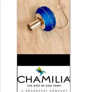 CHAMILIA•Silver•Blue Murano•Bead•Earrings Kit
